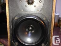 Pair of vintage B&W DM12 speakers. Cabinets in fair