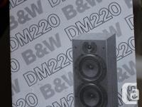 B&W DM220 Loudspeakers (2). Used, but in good