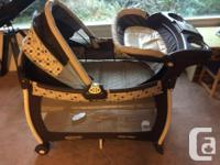 this can be a bassinet, change table and playpen, works
