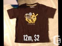 Various baby boy clothing items for sale. Smoke free