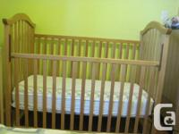 I have a baby crib, solid wood for sale for $100. I