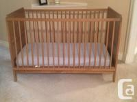 Baby Crib from IKEA with Sealy Posturepedic Mattress,