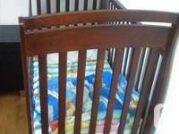 Baby Crib comes with mattress, mattress fitted sheet, 2