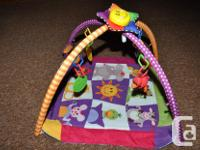 Like new baby exercise play mat with 6 attachments