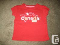 BABY GAP - Happy Birthday CANADA RED t-shirt - 12-18