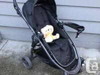 This stroller folds thin & is awesome for use on city