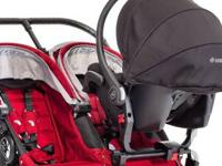 Carseat adapter for Baby Jogger City Double Stroller.