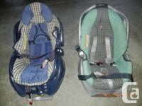 Baby swing-30 $, 2 baby car seats (blue and green)-50
