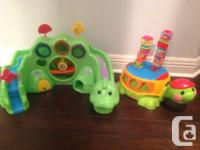 1. Fisher-Price Roll-a-Rounds Drop and Roar Dinosaur -