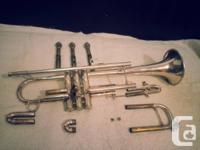 Bach Stradivarius 37 B-flat trumpet, silver plated,