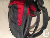 Vaude 20 + 5 Back Pack in Red and Grey with lots of