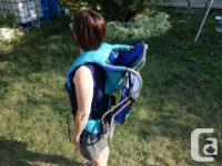 Gerry brand, lightweight baby carrier. Aluminum frame