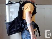 Interesting style backpack. Purchased for a hiking trip