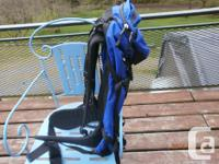 Sleek adventure style MEC pack. Approximately 30 inches