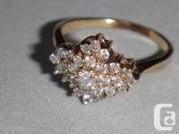Bague Grappe de diamants d'un poids total de diamants