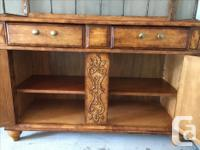 Lovely Baker's Rack and Cabinet Two separate pieces