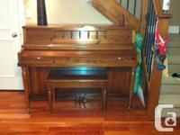 """PIANO:  Baldwin model 2012, 41"""" Console Piano & Bench"""