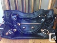 Up for sale;. Balenciaga Black GGH City Bag.