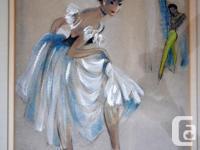 Ballerina Original Art Painting Signed Cydney Grossman