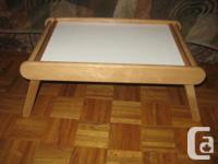 Folding Bamboo Serving Table Tray Perfect for Lap Bed