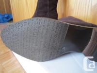 Banana Republic Rodeo Deep Brown Suede Boots. Original