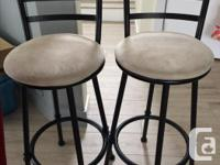 2 swivel bar stools $15 each or 2/$25 great condition