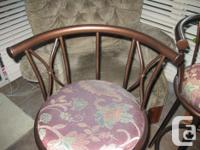 copper/bronze finish bar stools seat height 39 inches -