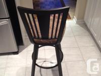 3 high end swivel stools. Madison swivel stool. Custom