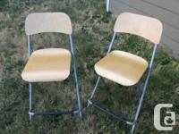 Three sets of two bar stools. $25 each stool. One set
