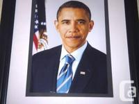 Crystal sharp photo of president Barack Obama.  This