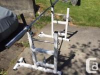 Barbell is actually a 2 piece bar (perfect for