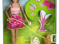 This is a cute Barbie set that includes a blonde Barbie