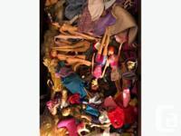 Barbie Dollhouse + box full of Barbies + bag full of