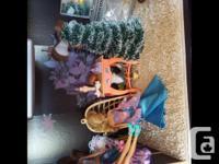 Amazing 4 story, plus attic Barbie house. Carpet