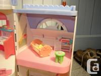 This playhouse come with all the furniture and
