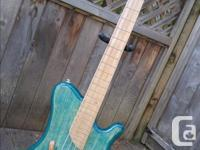 This is a hand built, custom made bass. No cnc, not