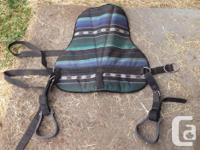 Bareback pad with removable stirrups. Used a couple