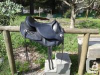 This saddle is as new in size 1, approximately equal to