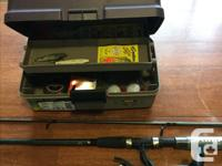 Freshwater spincast...barely used with tackle box and