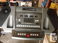 Hardly used, essentially new treadmill. With heart