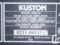 Barracuda Bass Gig Bag Kustom Amp Strap Cord Tuner