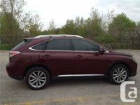 LEXUS SUV - RX350. 2013 Ultra Premium Package deal Like