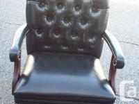 This is a Barristers Chair all Leather with no scuff