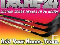 Gown up your hockey or ringette sticks with distinct