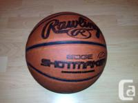 This basketball is in good shape, holds air, and has a