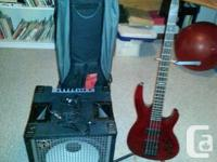 Bundle Includes: - SWR LA Series 100W Bass amp - Red