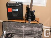 Like New - GODIN Bass 4 String Guitar  with 75 Watt
