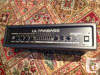 The Behringer Ultrabass BXR1800H is a bass amp head