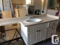 Bathroom sink cabinet and drawers, countertop, sink &