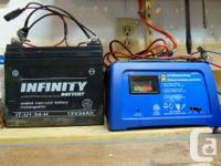 Infinity 12V, 34AH SLA Battery. Bought September 2015.
